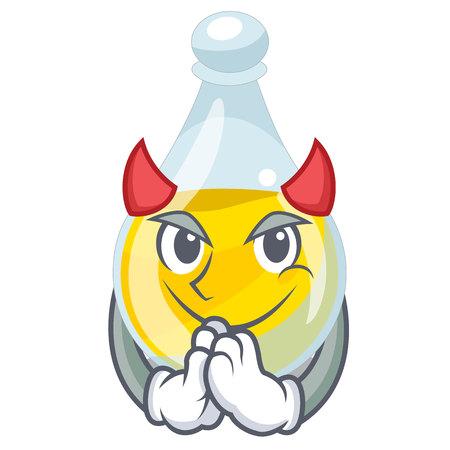 Aceite de sésamo de diablo en una ilustración de vector de tazón de mascota
