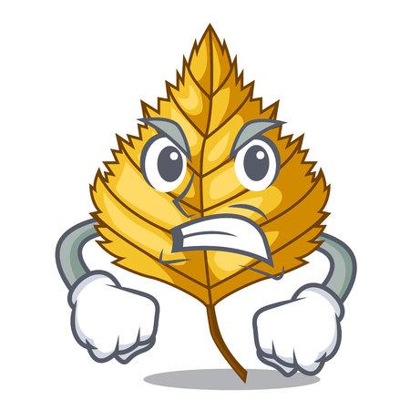 Angry birch leaves spread the cartoon sticks vector illustration Illustration
