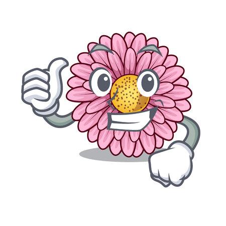 Thumbs up gerbera flower sticks the mascot stem