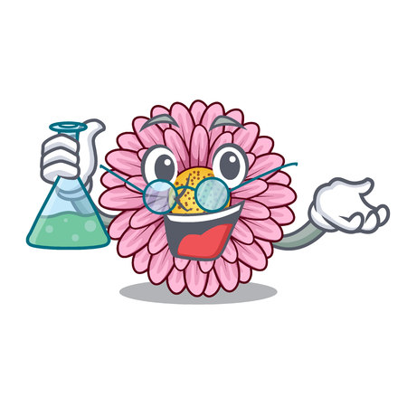 Professor gerbera flower sticks the mascot stem