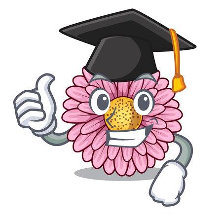 Graduation gerbera flower sticks the mascot stem