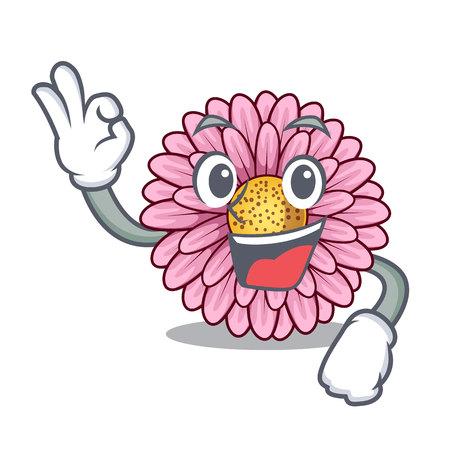 Okay gerbera flower sticks the mascot stem