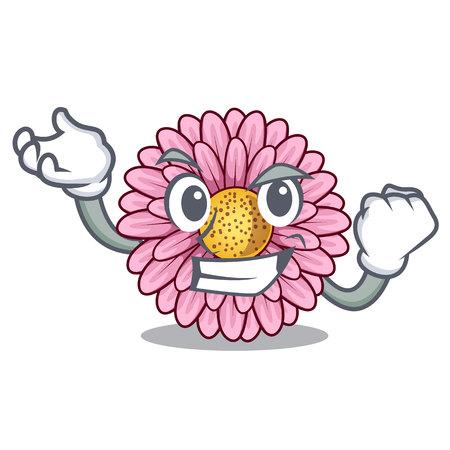 Successful gerbera flower sticks the mascot stem