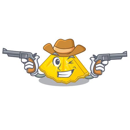 Cowboy pineapple slice with in character shape