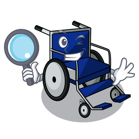Detective wheelchair in the a character shape Ilustração