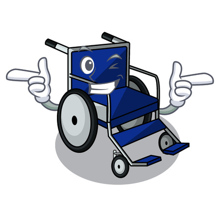 Wink wheelchair in the a character shape vector illustration Imagens - 124277603