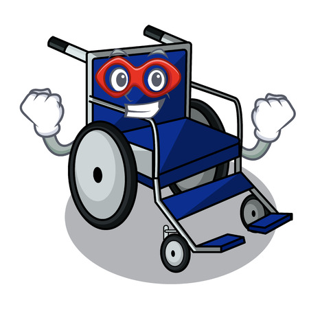 Super hero wheelchair in the a character shape Ilustração