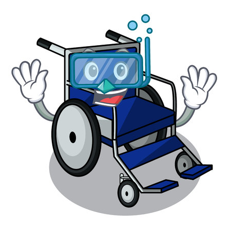 Diving wheelchair in the a character shape vector illustration Imagens - 124277606