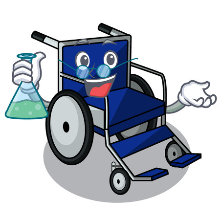 Professor wheelchair in the a character shape vector illustration Imagens - 124277608