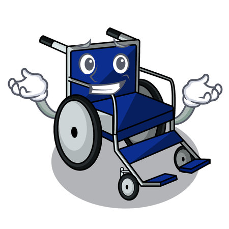 Grinning wheelchair in the a character shape vector illustration Imagens - 124277627