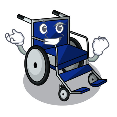 Successful wheelchair in the a character shape vector illustration Ilustração