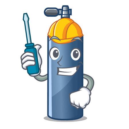Automotive toy air tank diving cartoon shape vector illustration Ilustracja