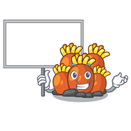Bring board orange coral reef toys shape cartoon vector illustration
