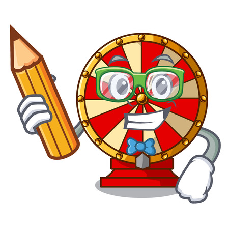 Student spinning wheel toy isolated the character vector illustration Illustration