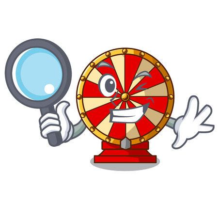 Detective spinning wheel toy isolated the character vector illustration Ilustração