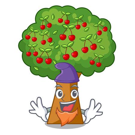 Elf cherry tree in the cartoon shape