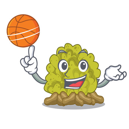 With basketball green coral reef in character shape