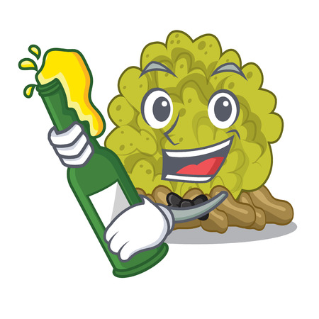 With beer green coral reef toys cartoon shapes 向量圖像