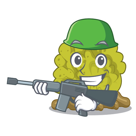 Army green coral reef in character shape Illustration
