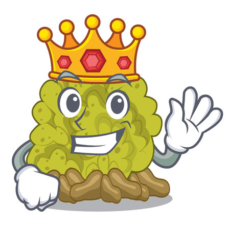 King green coral reef toys cartoon shapes 向量圖像