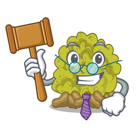 Judge green coral reef toys cartoon shapes vector illustration Illustration