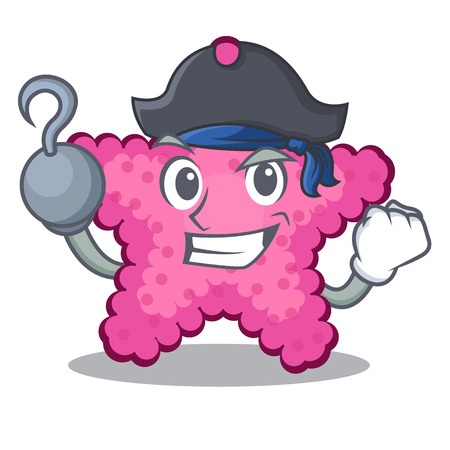 Pirate pink starfish isolated with the cartoon vector illustration