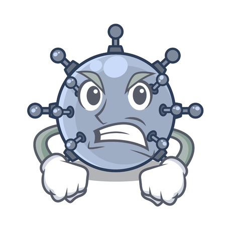 Angry toy mine underwater characters in tables vector illustration Vektorgrafik