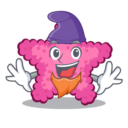 Elf pink starfish isolated with the cartoon vector illustration