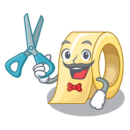 Barber masking tape in the shape characters vector illustration Illustration