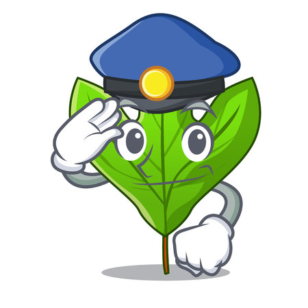 Police sassafras leaf isolated in the character vecttor illustration  イラスト・ベクター素材