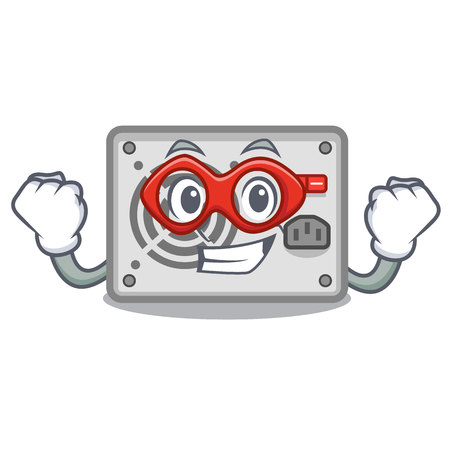 Super hero power supply in the shape characters vector illustration Illustration