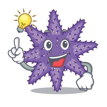 Have an idea purple starfish the cartoon above sand vector illustration