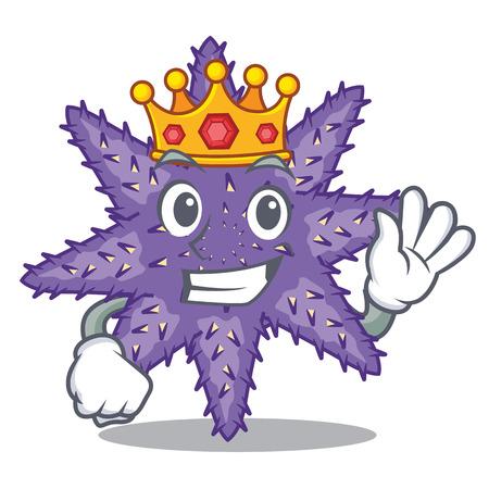 King purple starfish the cartoon above sand vector illustration