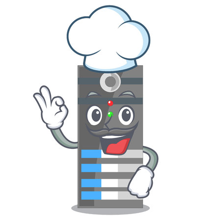 Chef data server isolated in the character vector illustration 向量圖像
