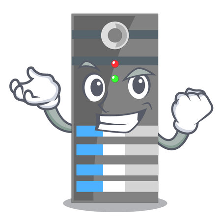 Successful data server isolated in the character vector illustration