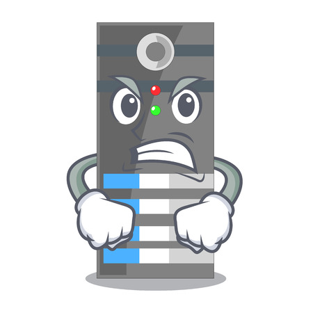 Angry server data in the cartoon shape vector ilustration