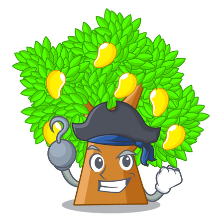 Pirate mango tree isolated with the mascot vector illstration
