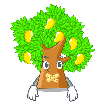 Silent toy cartoon mango tree above table