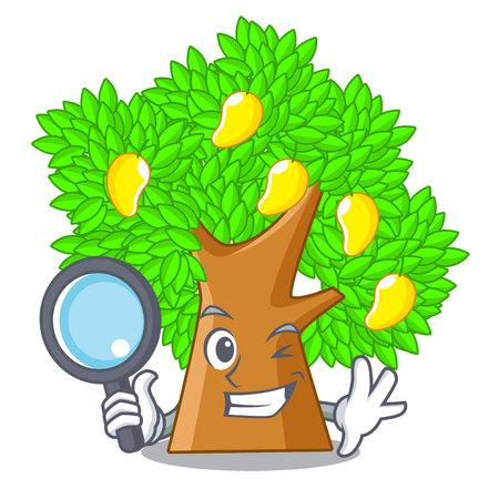 Detective mango tree in the cartoon shape