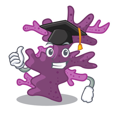 Graduation purple coral reef isolated with character vector illustration 向量圖像