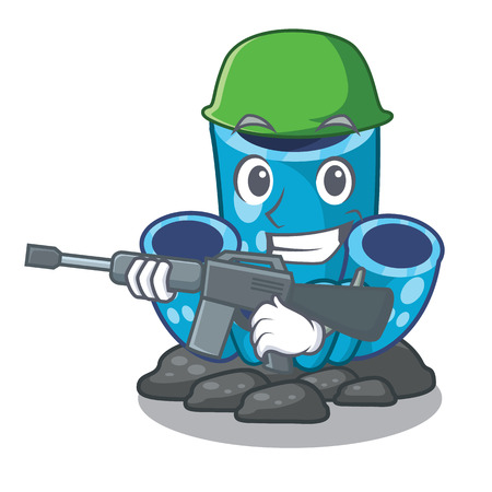 Army blue sponge coral the shape cartoon vector illustration Ilustrace