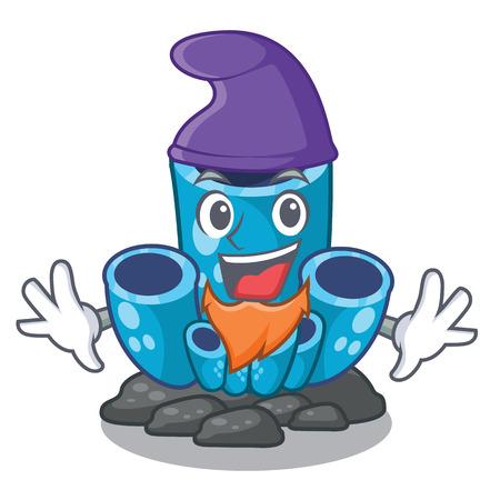 Elf blue sponge coral the shape cartoon vector illustration Иллюстрация