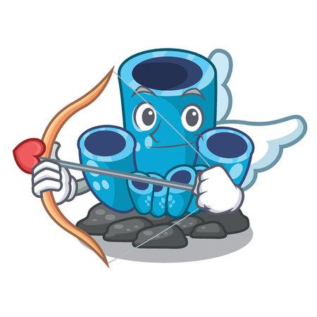 Cupid blue sponge coral the shape cartoon vector illustration Ilustrace