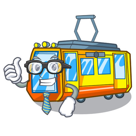 Businessman electric train isolated with the cartoon vector illustration  イラスト・ベクター素材