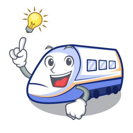 Have an idea miniature shinkansen train in cartoon shape vector illustration
