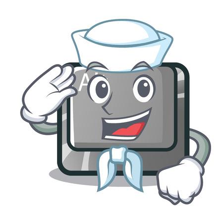 Sailor alt button in the cartoon shape vector illustration Stock Vector - 124091706
