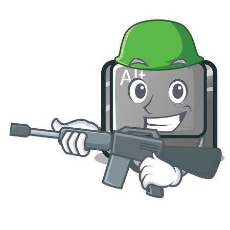 Army alt button in the cartoon shape vector illustration