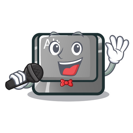 Singing alt character button attached the keyboard vector illustration Illustration