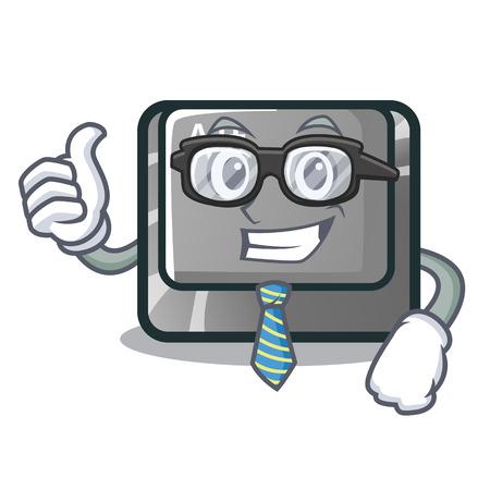 Businessman alt button isolated with the mascot vector illustration Illusztráció