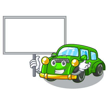 Bring board classic car isolated in the cartoon vector illustration